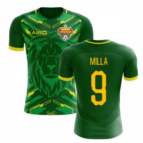 43082ea0d 2018-2019 Cameroon Home Concept Football Shirt (Milla 9) - Kids ...