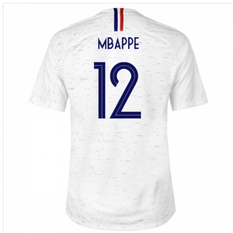 low priced a6139 c8f67 2018-2019 France Away Nike Football Shirt (Mbappe 12) - Kids