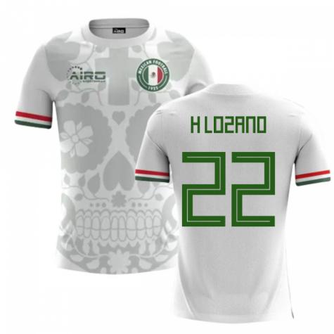 finest selection 7b7de ae435 2018-2019 Mexico Away Concept Football Shirt (H Lozano 22) - Kids