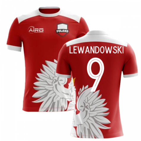 2018-2019 Poland Away Concept Football Shirt (Lewandowski 9) - Kids