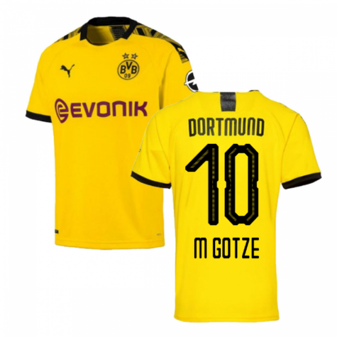 sneakers for cheap ded27 4513b 2019-2020 Borussia Dortmund Puma Home Football Shirt (M GOTZE 10)
