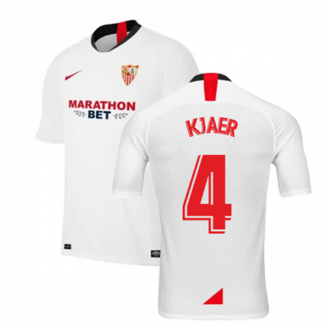 2019-2020 Sevilla Home Nike Football Shirt (KJAER 4)
