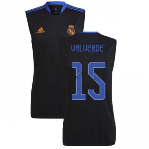 Real Madrid 2021-2022 Sleeveless Jersey (Black) (VALVERDE 15)
