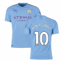 2019-2020 Manchester City Puma Home Authentic Football Shirt (KUN AGUERO 10)
