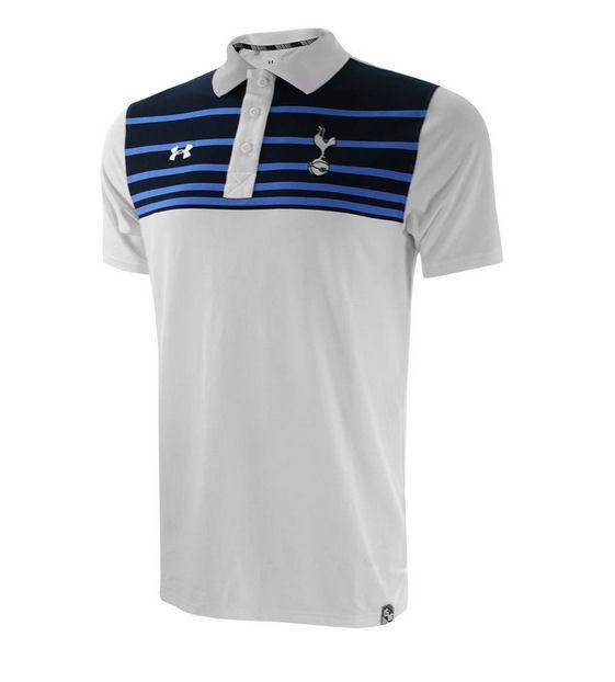 Tottenham 2015 2016 striped shirt white 1258751 100 for Tottenham under armour polo shirt