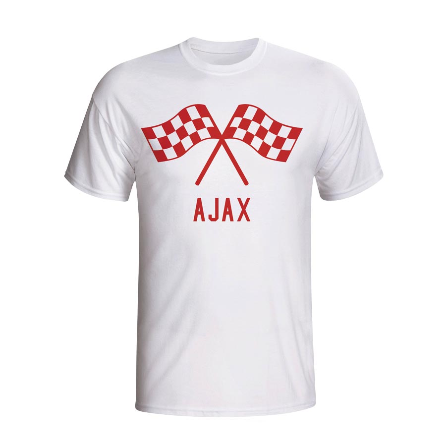 Ajax Waving Flags T-shirt (white) - Kids