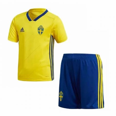 2aabad61c 2018-2019 Sweden Home Adidas Mini Kit (Augustinsson 6)  BR3829 ...